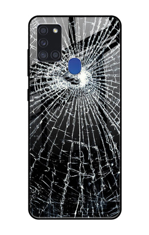Cracked Design Samsung Galaxy A21s Glass Cases & Covers Online
