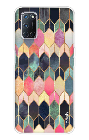 Colorful Brick Pattern Case Oppo A52 Cases & Covers Online