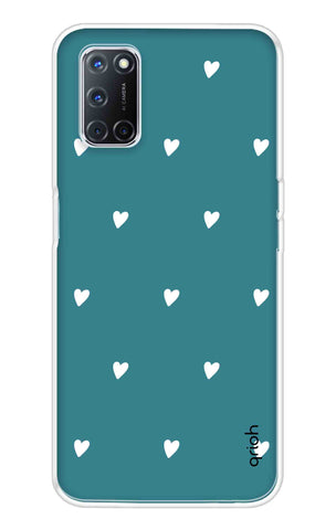 Mini White Hearts Case Oppo A52 Cases & Covers Online