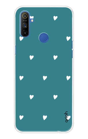 Mini White Hearts Case Realme Narzo 10A Cases & Covers Online