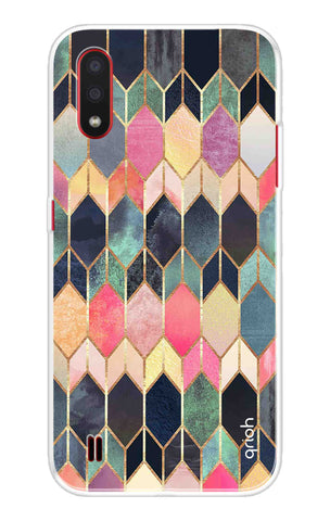 Colorful Brick Pattern Case Samsung Galaxy M01 Cases & Covers Online
