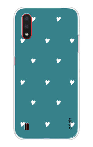 Mini White Hearts Case Samsung Galaxy M01 Cases & Covers Online