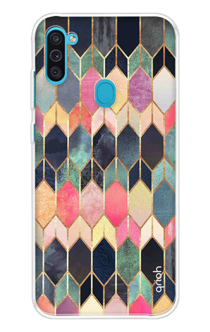 Colorful Brick Pattern Case Samsung Galaxy M11 Cases & Covers Online