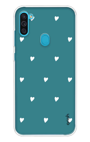 Mini White Hearts Case Samsung Galaxy M11 Cases & Covers Online