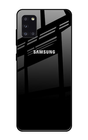 Jet Black Samsung Galaxy A31 Glass Cases & Covers Online