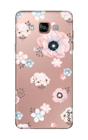 Beautiful White Floral Samsung A7 Cases & Covers Online