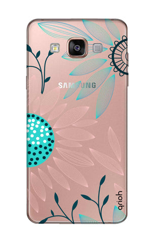 Pink And Blue Petals Samsung A7 Cases & Covers Online