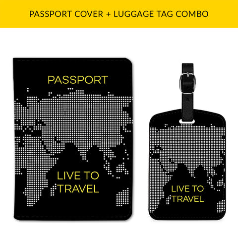 Live to Travel Passport & Luggage Tag Combo