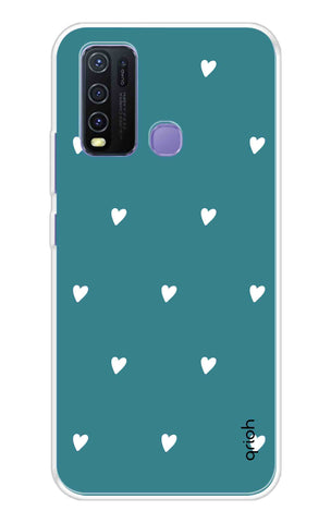 Mini White Hearts Case Vivo Y50 Cases & Covers Online