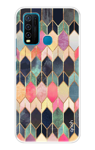 Colorful Brick Pattern Case Vivo Y30 Cases & Covers Online