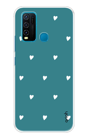 Mini White Hearts Case Vivo Y30 Cases & Covers Online