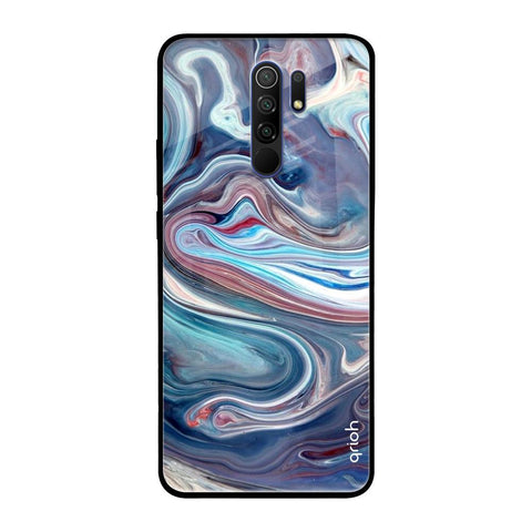 Elegant Water Stream Redmi 9 prime Glass Cases & Covers Online