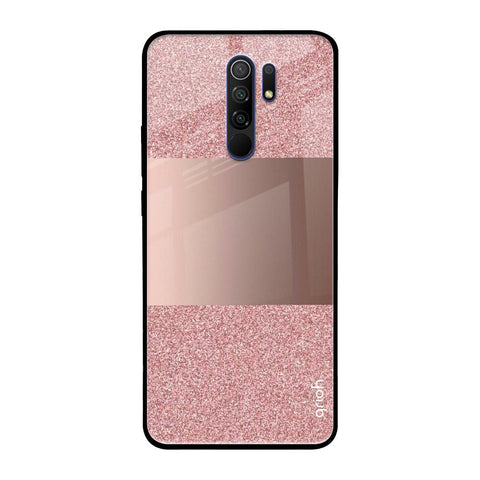 Rose Gold Metallic Glass Case Redmi 9 prime Glass Cases & Covers Online