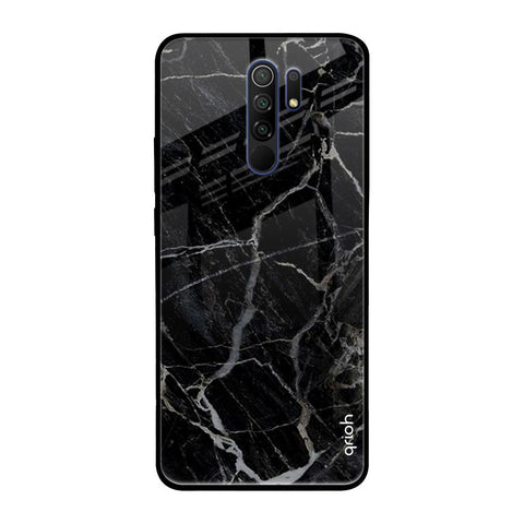 Black Stone Taxture Marble Redmi 9 prime Glass Cases & Covers Online