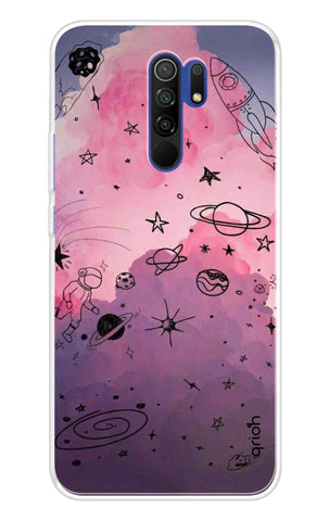 Space Doodles Art Redmi 9 Prime Cases & Covers Online