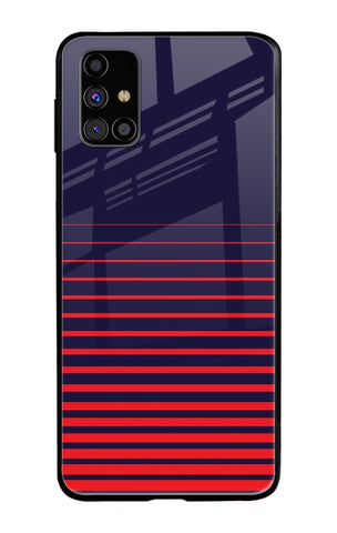 Ascending Stripes Samsung Galaxy M31s Glass Cases & Covers Online