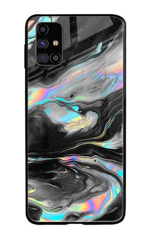 Fluid Holographic Samsung Galaxy M31s Glass Cases & Covers Online