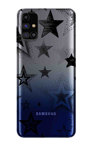 Black Stars Samsung Galaxy M31s Cases & Covers Online