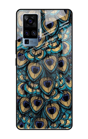 Peacock Feathers Vivo X50 Pro Glass Cases & Covers Online