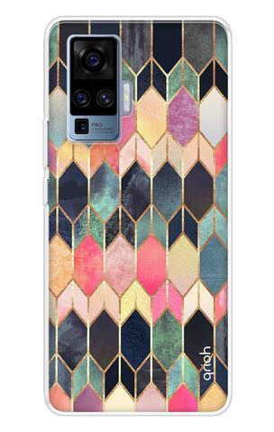 Colorful Brick Pattern Case Vivo X50 Pro Cases & Covers Online