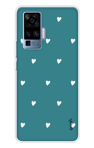 Mini White Hearts Case Vivo X50 Pro Cases & Covers Online