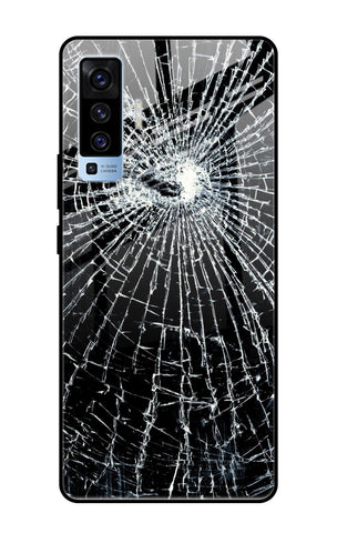 Cracked Design Vivo X50 Glass Cases & Covers Online
