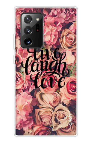 Floral Live, Laugh, Love Samsung Galaxy Note 20 Ultra Cases & Covers Online