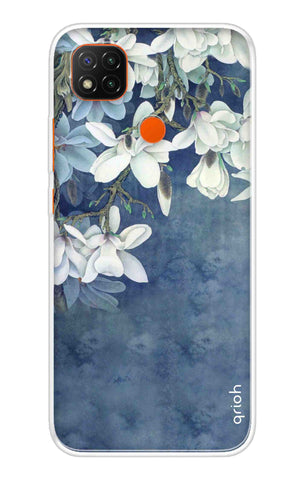 White Flower Redmi 9 Cases & Covers Online