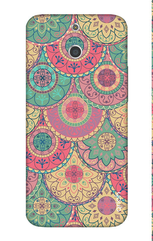 Colorful Mandala HTC E8 Cases & Covers Online