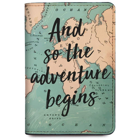 So the Adventure Begins Passport Cover