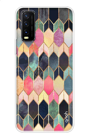Colorful Brick Pattern Case Vivo Y20 Cases & Covers Online