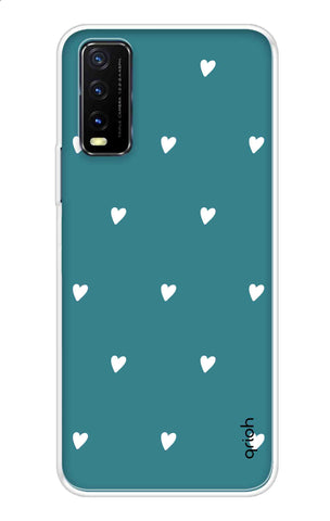 Mini White Hearts Case Vivo Y20 Cases & Covers Online