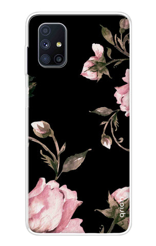 Pink Roses On Black Samsung Galaxy M51 Cases & Covers Online