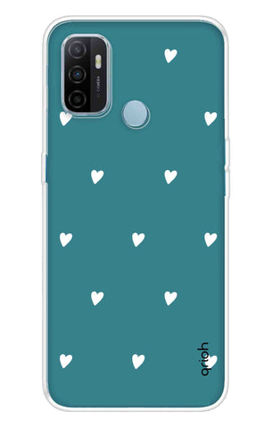 Mini White Hearts Case Oppo A53 Cases & Covers Online