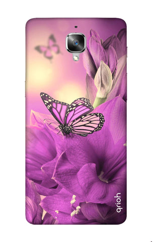 Purple Butterfly OnePlus 3 Cases & Covers Online