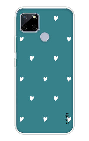 Mini White Hearts Case Realme C12 Cases & Covers Online