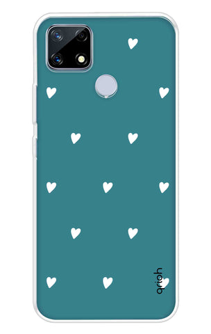 Mini White Hearts Case Realme Narzo 20 Cases & Covers Online