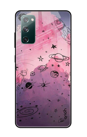Space Doodles Samsung Galaxy S20 FE Glass Cases & Covers Online