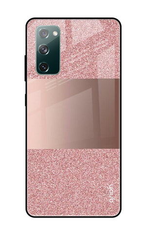 Rose Gold Metallic Glass Case Samsung Galaxy S20 FE Glass Cases & Covers Online