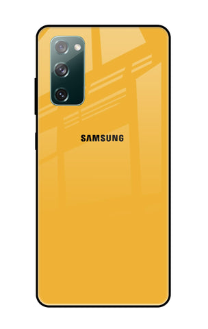 Fluorescent Yellow Samsung Galaxy S20 FE Glass Cases & Covers Online