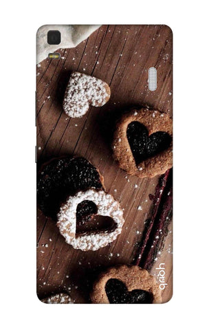 Heart Cookies Lenovo K3 Note Cases & Covers Online