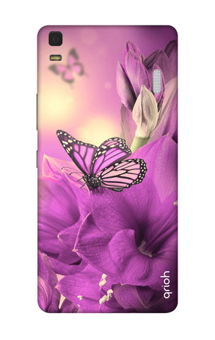 Purple Butterfly Lenovo K3 Note Cases & Covers Online