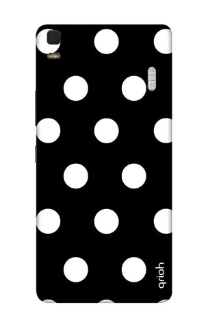 White Polka On Black Lenovo K3 Note Cases & Covers Online