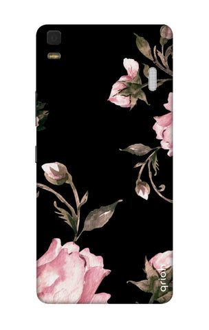 Pink Roses On Black Lenovo K3 Note Cases & Covers Online