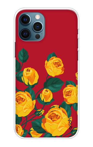Yellow Floral Case iPhone 12 Pro Cases & Covers Online