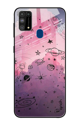 Space Doodles Samsung Galaxy M31 Prime Glass Cases & Covers Online