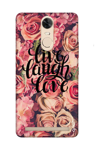 Floral Live, Laugh, Love Lenovo K5 Note Cases & Covers Online