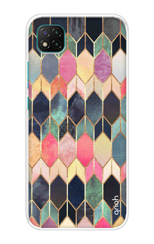 Colorful Brick Pattern Case Poco C3 Cases & Covers Online