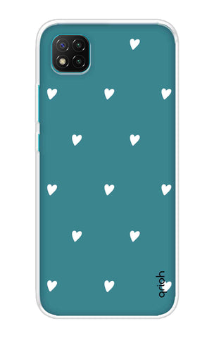 Mini White Hearts Case Poco C3 Cases & Covers Online