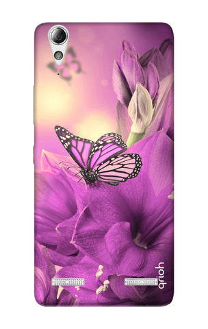 Purple Butterfly Lenovo A6000 Cases & Covers Online